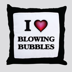 I love Blowing Bubbles Throw Pillow