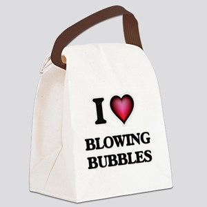 I love Blowing Bubbles Canvas Lunch Bag