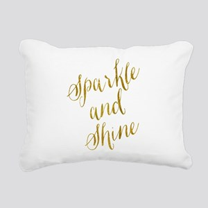 Sparkle and Shine Gold F Rectangular Canvas Pillow