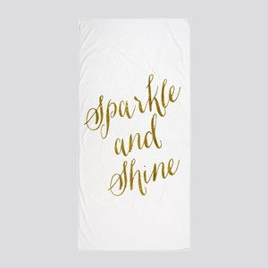 Sparkle and Shine Gold Faux Foil Metal Beach Towel