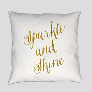 Sparkle and Shine Gold Faux Foil M Everyday Pillow
