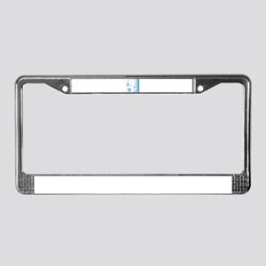 Water Bubbles License Plate Frame
