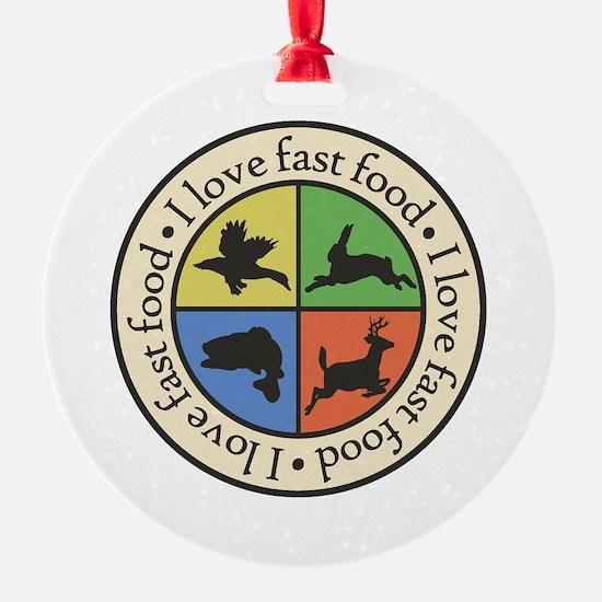 I Love Fast Food Ornament