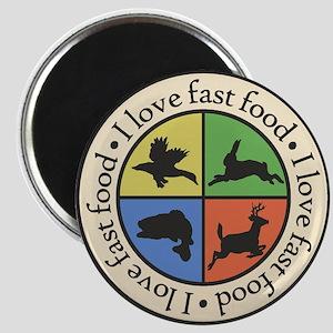 I Love Fast Food Magnets