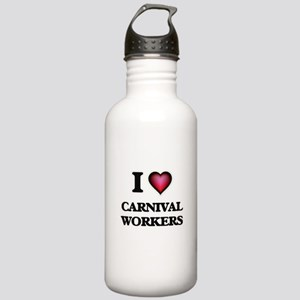 I love Carnival Worker Stainless Water Bottle 1.0L