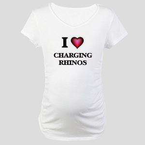 I love Charging Rhinos Maternity T-Shirt