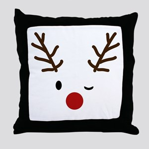 Cute Reindeer Christmas Winter Throw Pillow