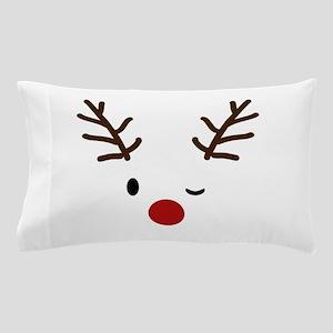 Cute Reindeer Christmas Winter Pillow Case