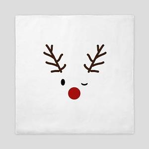Cute Reindeer Christmas Winter Queen Duvet