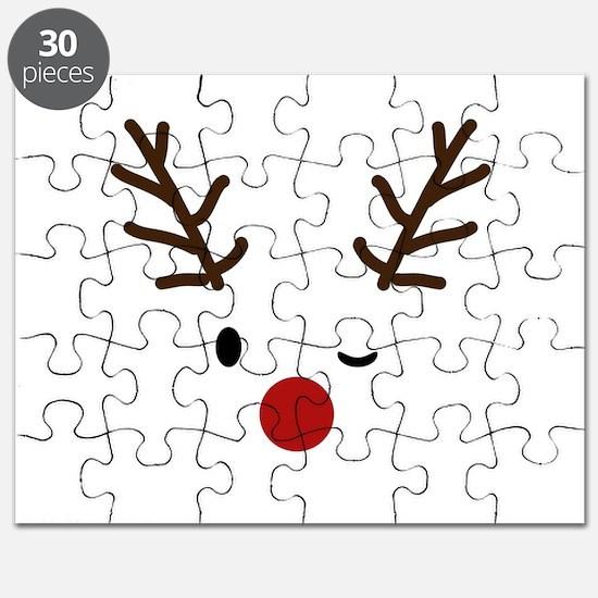 Cute Reindeer Christmas Winter Puzzle