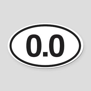 0.0 Mile Marker Oval Car Magnet
