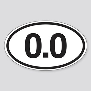 0.0 Mile Marker Sticker (Oval)