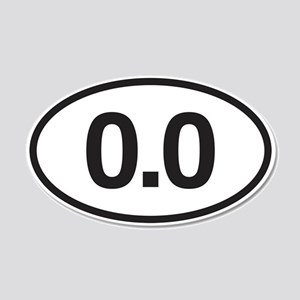 0.0 Mile Marker 20x12 Oval Wall Decal