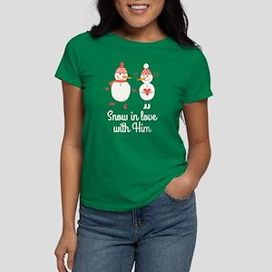 Snowman Couple Matching Hers T-Shirt