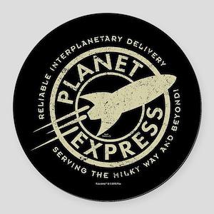 Planet Express Logo Round Car Magnet