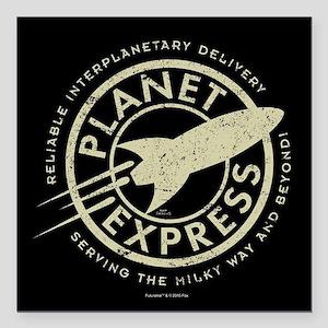 "Planet Express Logo Square Car Magnet 3"" x 3"""