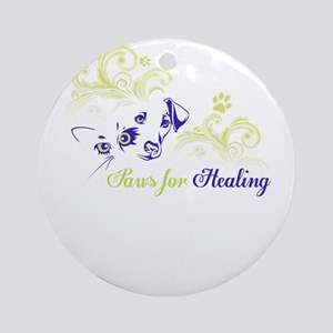 paws for healing Round Ornament