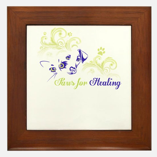 paws for healing Framed Tile