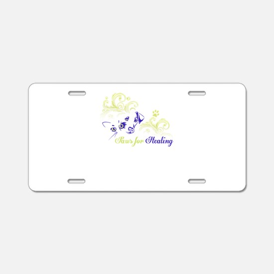 paws for healing Aluminum License Plate