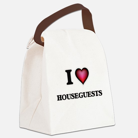 I love Houseguests Canvas Lunch Bag
