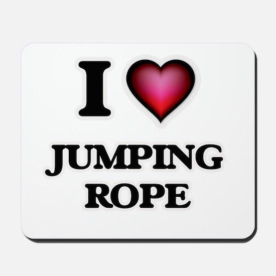 I love Jumping Rope Mousepad