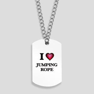 I love Jumping Rope Dog Tags