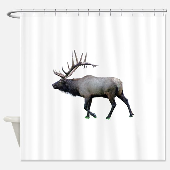 Willow Wapiti elk Shower Curtain
