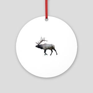 Willow Wapiti elk Round Ornament