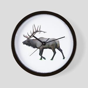 Willow Wapiti elk Wall Clock