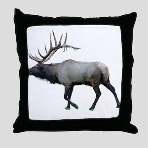 Willow Wapiti elk Throw Pillow