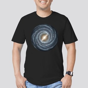 Milky Way Map Men's Fitted T-Shirt (dark)