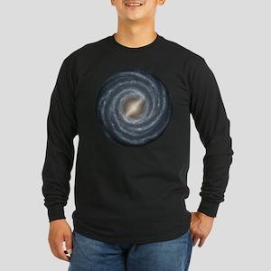 Milky Way Map Long Sleeve Dark T-Shirt