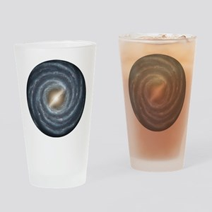 Milky Way Map Drinking Glass
