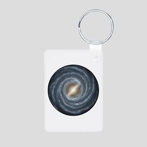 Milky Way Map Aluminum Photo Keychain