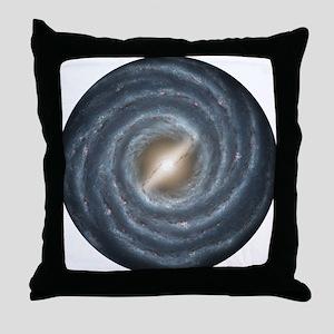 Milky Way Map Throw Pillow