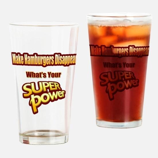 Super Power-Hamburgers Drinking Glass