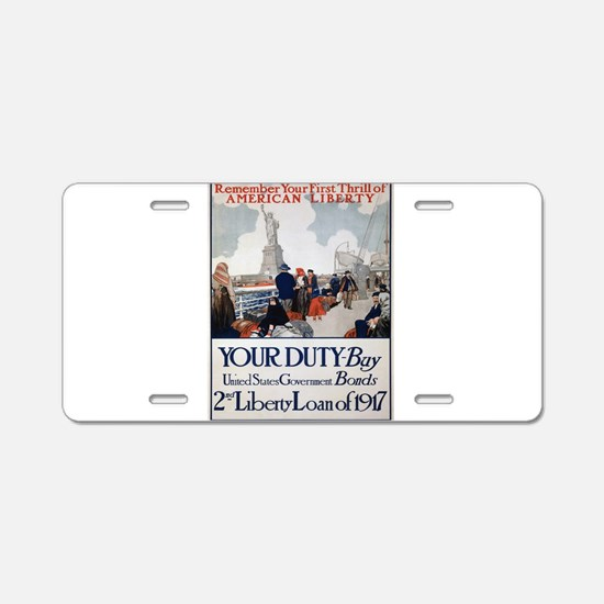 Vintage poster - Statue of Aluminum License Plate