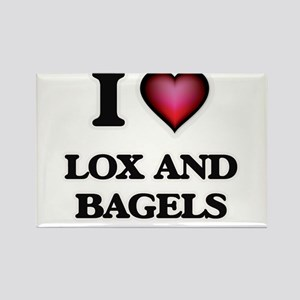 I love Lox And Bagels Magnets