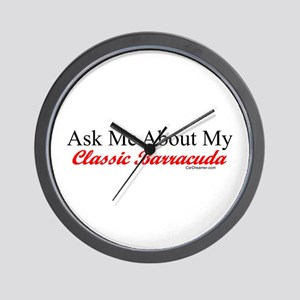 """""""Ask About My Barracuda"""" Wall Clock"""