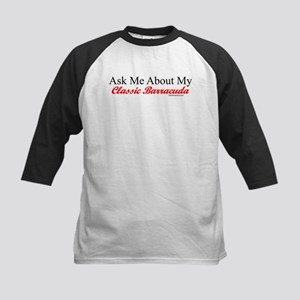 """Ask About My Barracuda"" Kids Baseball Jersey"