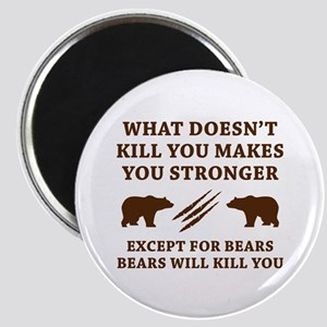 Except For Bears Magnet