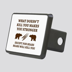 Except For Bears Rectangular Hitch Cover