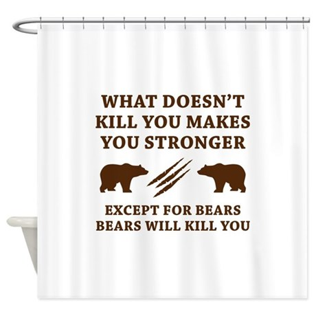 Except For Bears Shower Curtain By VectorPlanet