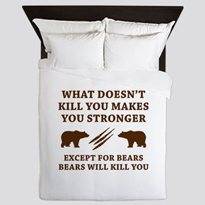 Except For Bears Queen Duvet