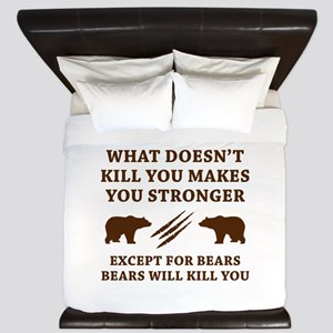 Except For Bears King Duvet