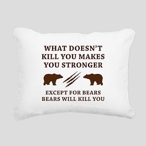 Except For Bears Rectangular Canvas Pillow
