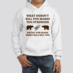 Except For Bears Hooded Sweatshirt