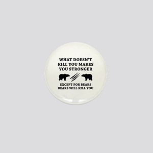 Except For Bears Mini Button