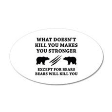 Except For Bears 22x14 Oval Wall Peel