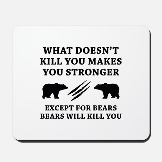 Except For Bears Mousepad